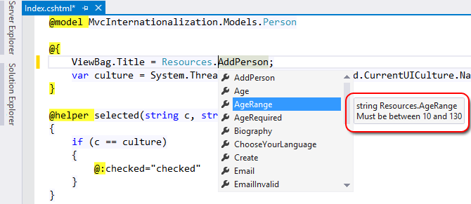 ASP NET MVC 5 Internationalization · How to Store Strings in a